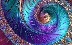 Spirale jaune, violette et bleue, pour représenter l'hypnose évolutive.