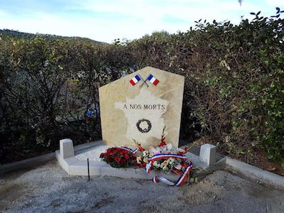 Monuments aux morts Fontanès (10 nov.)