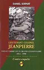 Couverture du livre de Daniel SORNAT Lieutenant-colonel Jeanpierre anocr34.fr