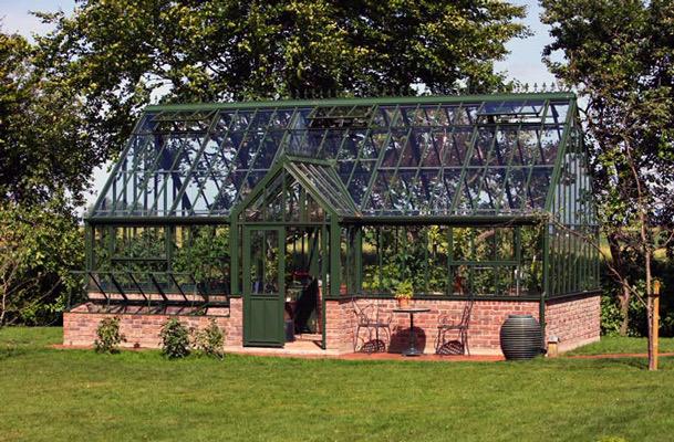 """Gewächshaus im englischen Stil """" Victorian Manor"""" in Forest Green"""