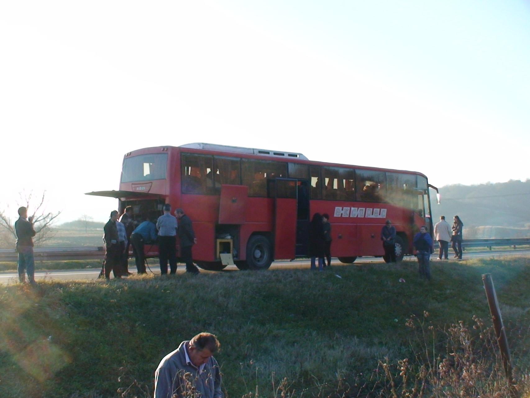 セルビアに向かう途中、バスがエンストしてみたり・・・