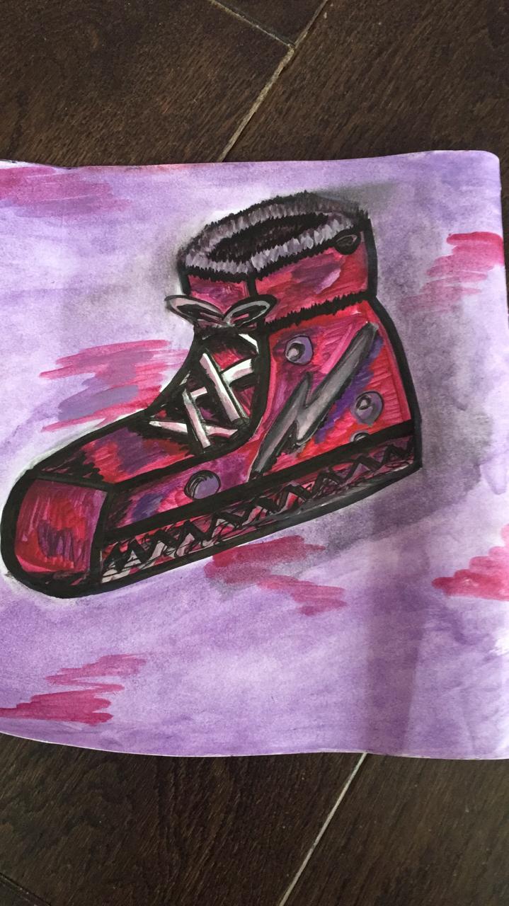 Кира Мартинкевич. Дизайн кроссовок.