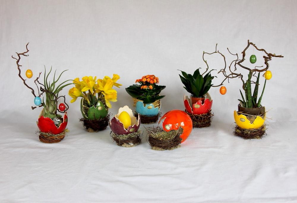 Keramikschalen, Eischalen im Nest