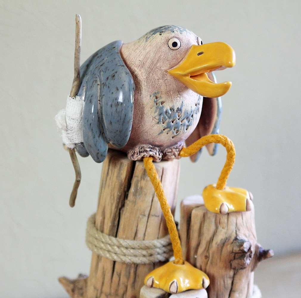 """Skulptur """"Schräger Vogel"""""""