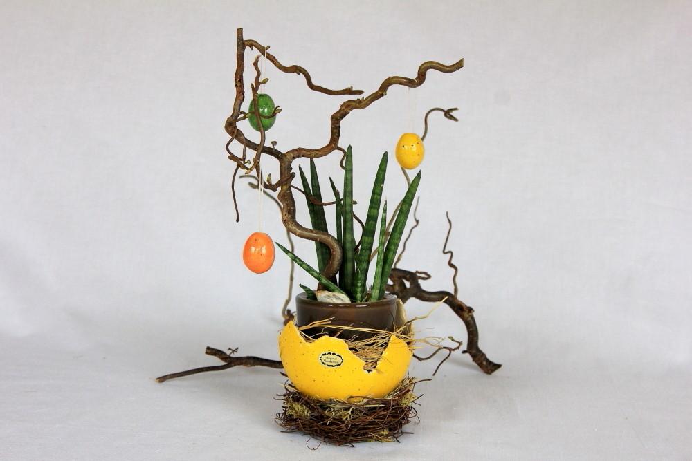 Schale aus Keramik mit Nest
