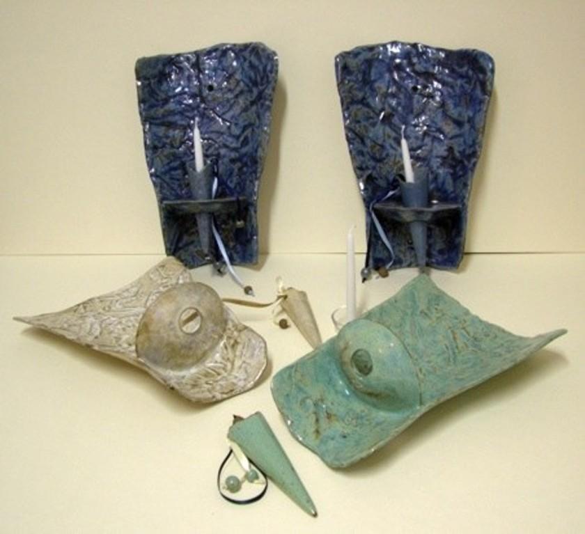 Wandkerzenhalter (Keramik)