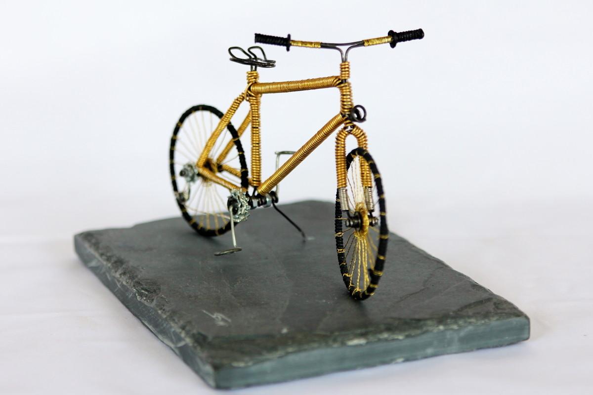 """Fahrrad, Skulptur """"Drahtesel"""""""