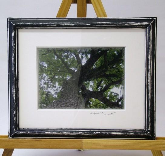 """Fineart Print """"Kronjuwelen"""" (Druck, oberflächenveredelt auf Künstlerpapier, Passepartout, bearbeiteter Echtholzrahmen)"""