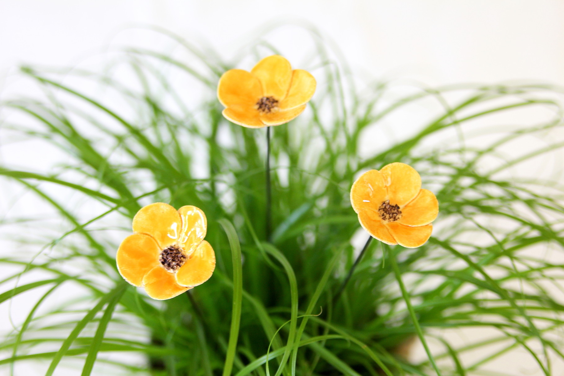 Blumen Stecker - gelb