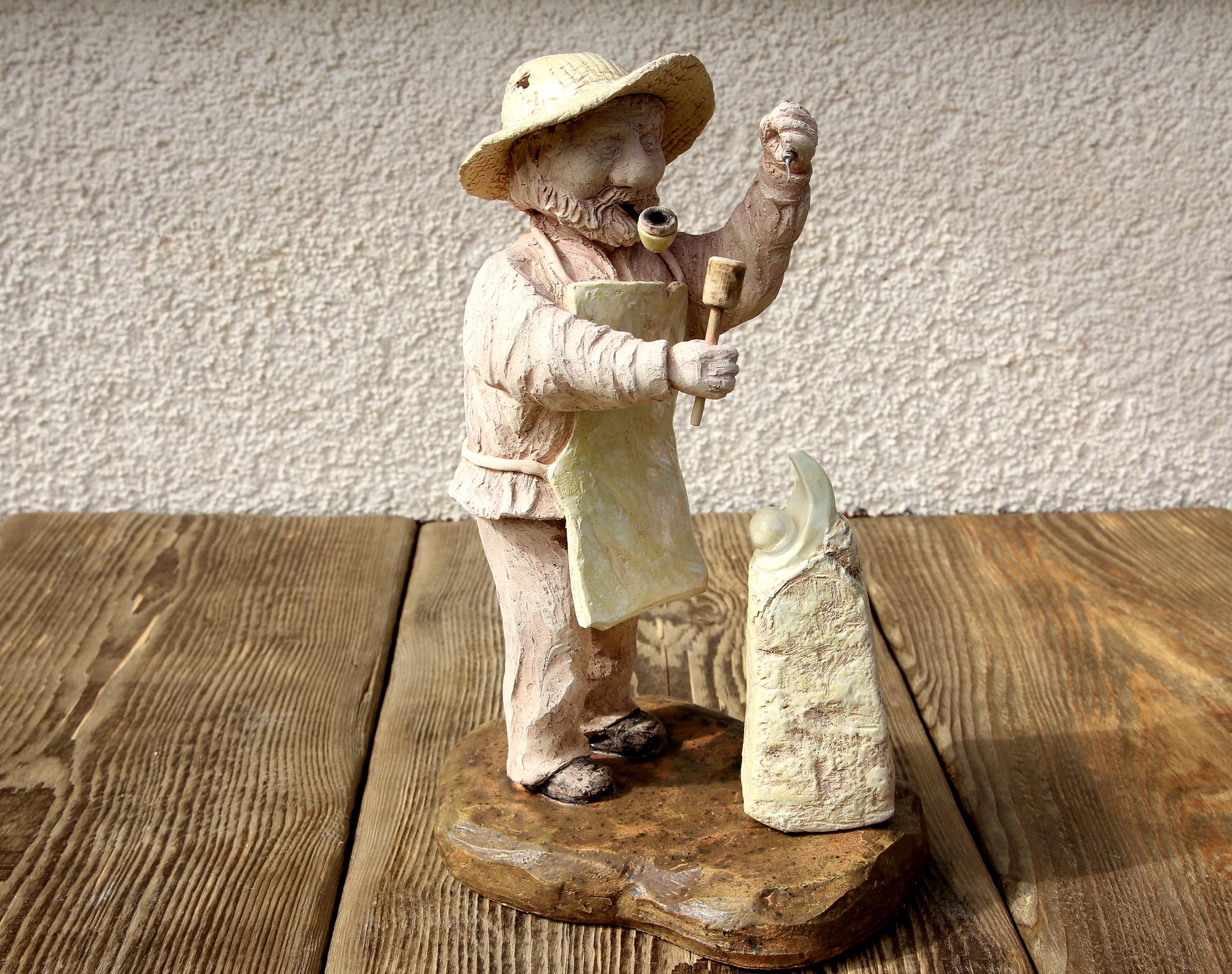 """Skulptur """"Steinmetz"""""""