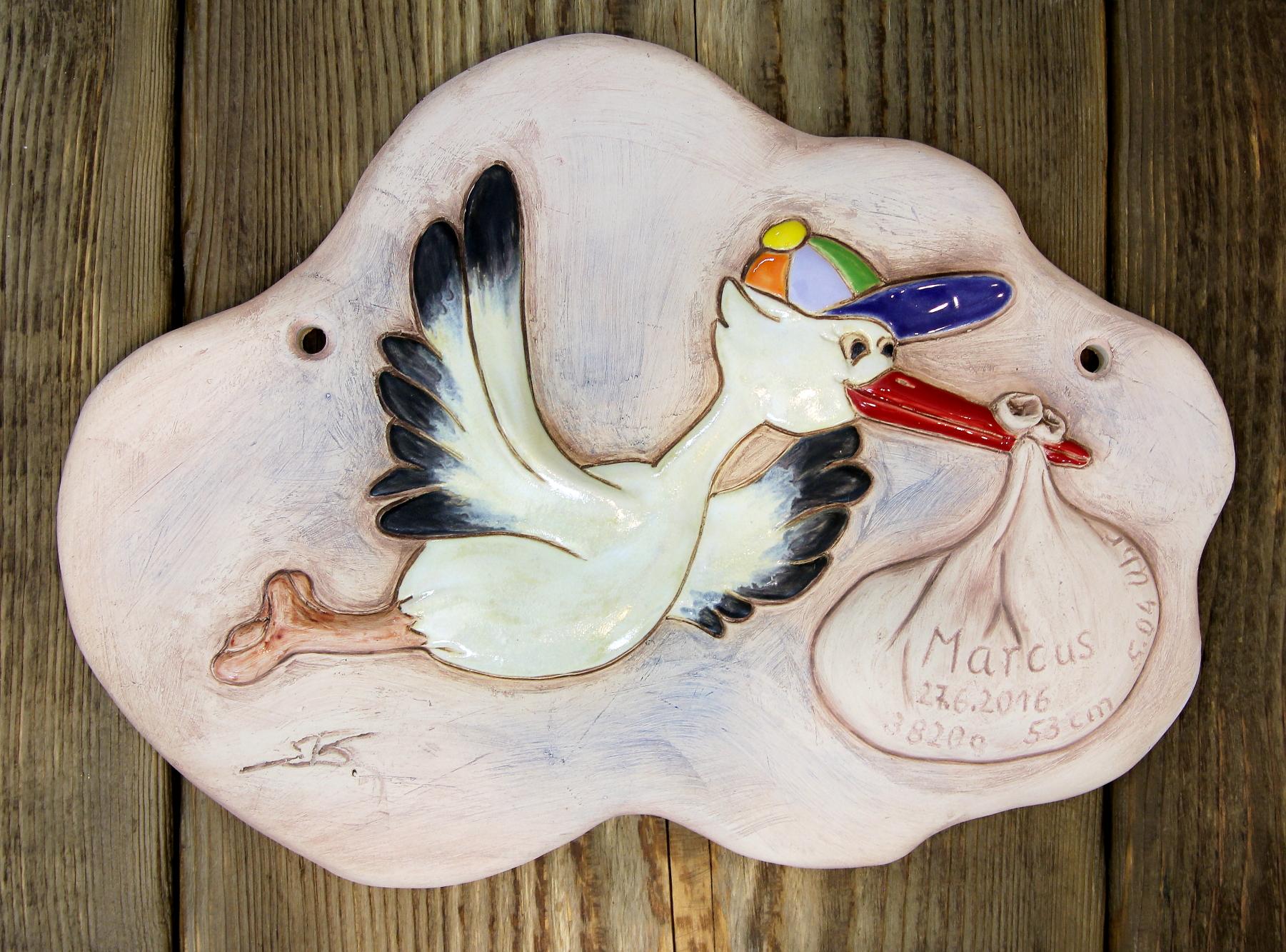 Namensschild, Türschild, Schild personalisiert - aus Keramik