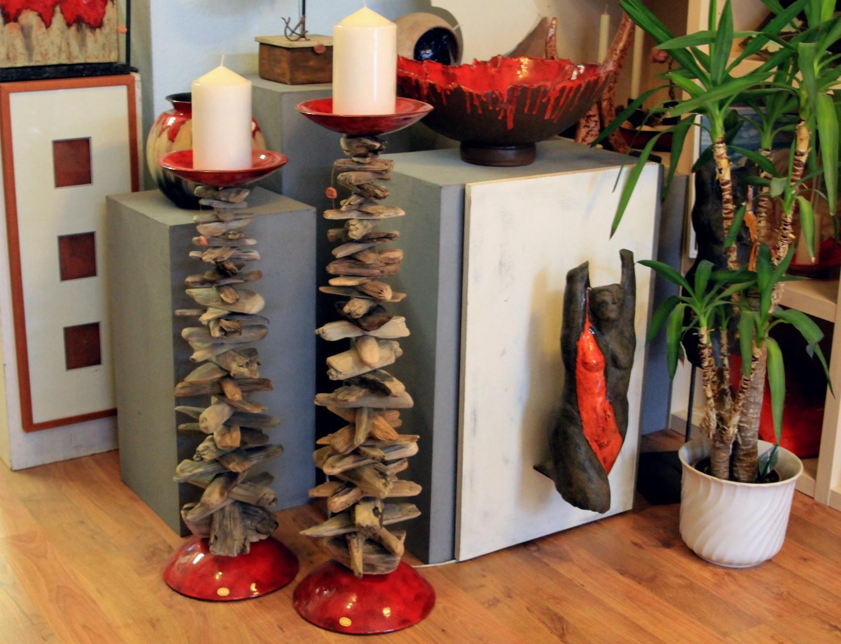 """Kerzenständer, Kerzenläuchter """"Treibholz"""""""