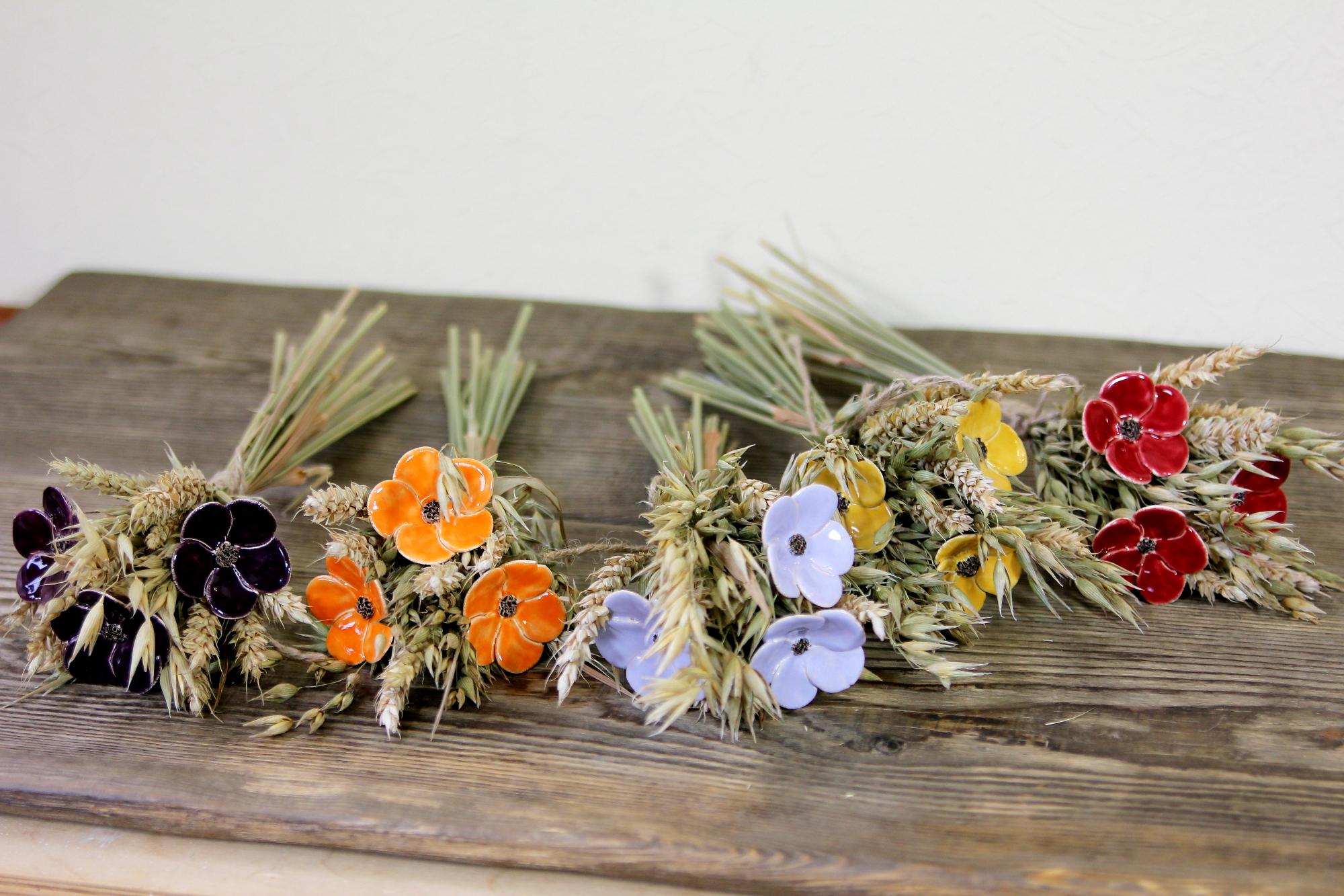 Floristik, Getreide mit Blumen
