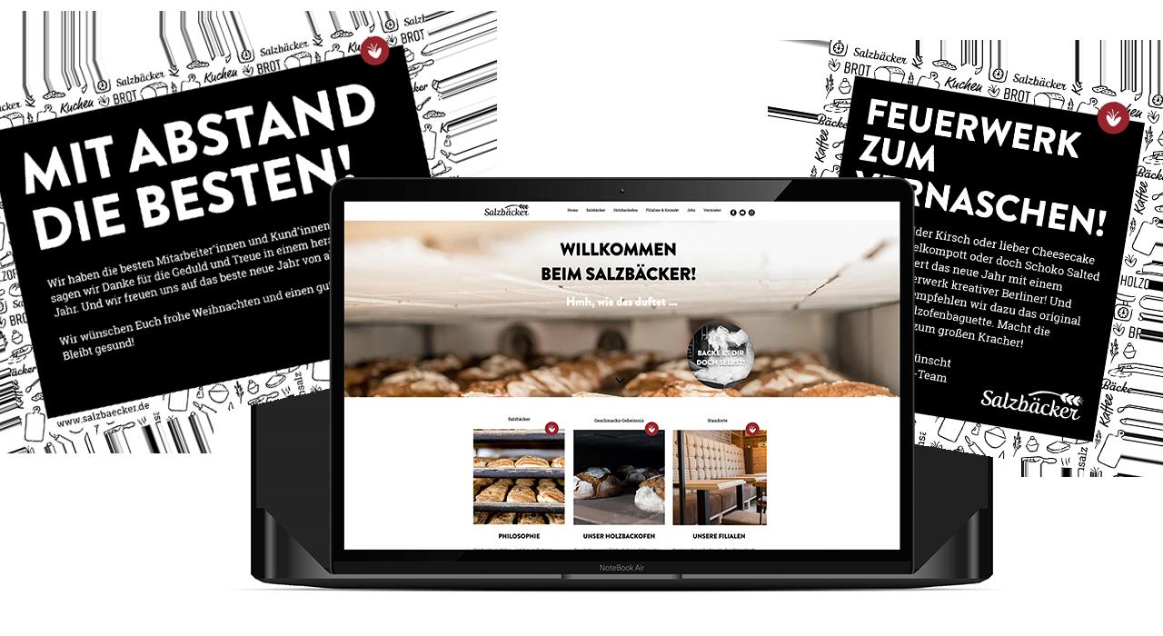Konzeption und Gestaltung einer Anzeige und Website