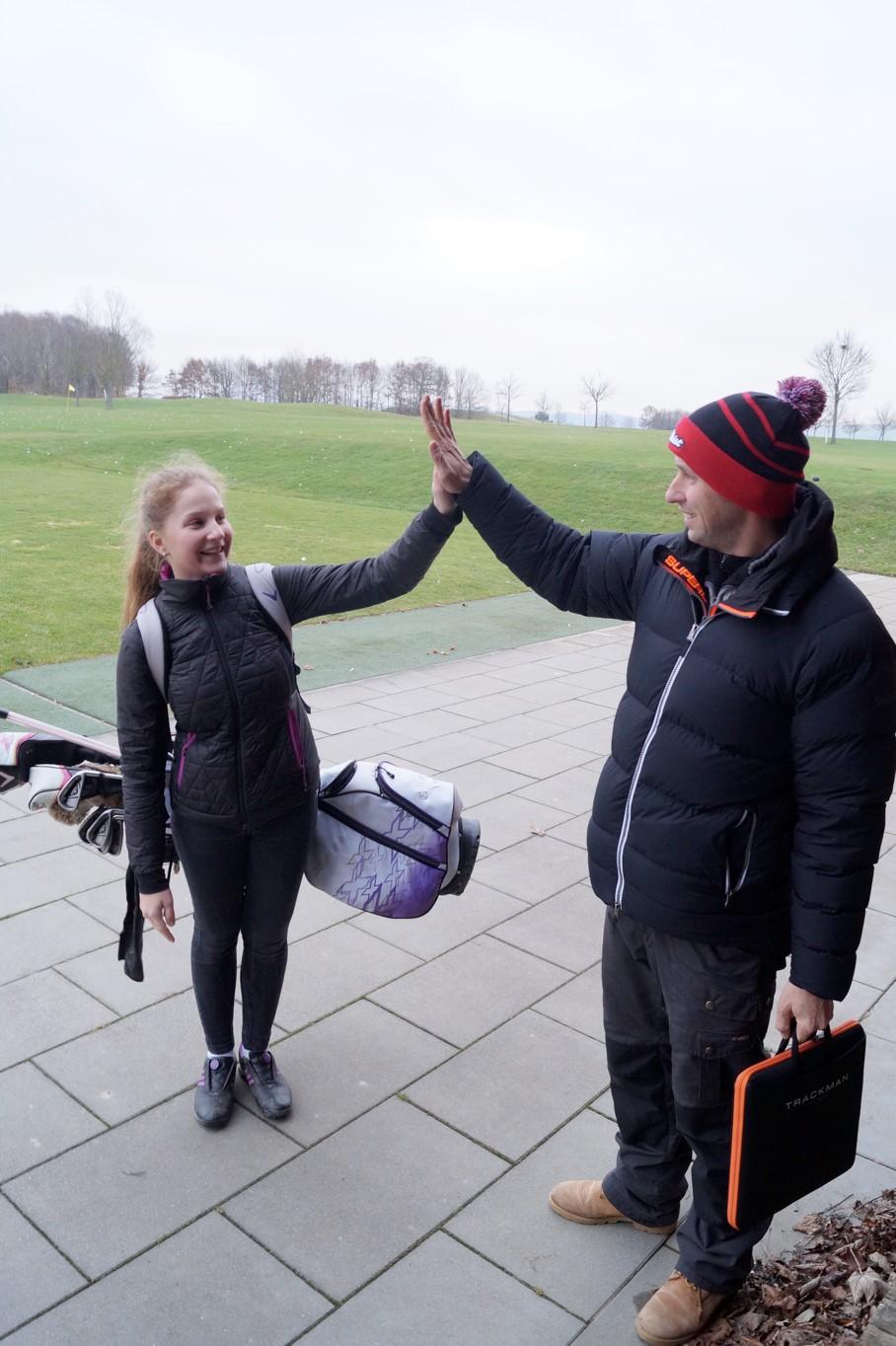 Sabrina mit Ihrem neuen Trainer Marco Müntnich