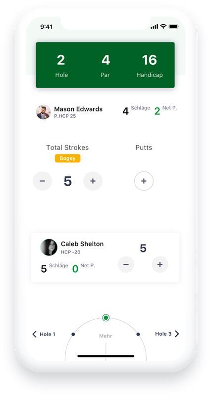 Die Golfclix Lite App bietet als erster App-Anbieter die Qualifizierte elektronische Scorekarte an - © GolfClix GmbH