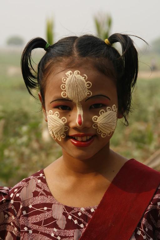 """Maquillage de """"tanakha"""" à  AMARUPA."""