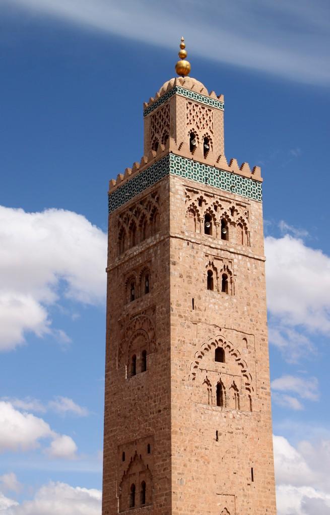 Le minaret  Koutoubia à MARRAKECH