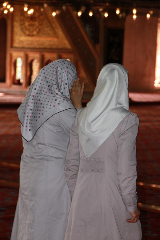 Dans la mosquée Bleue d'ISTANBUL.