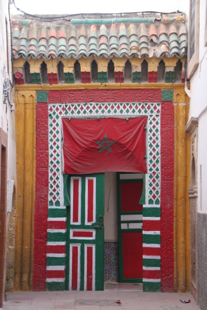 Une porte d'enrée dans la médina d'ESSAOUIRA.