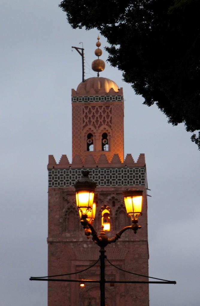 Le minaret  Koutoubia à MARRAKECH.