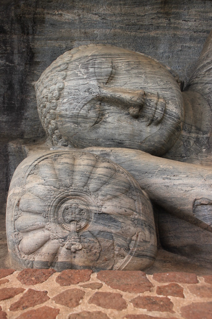 Bouddha couché à POLONNARUWA.