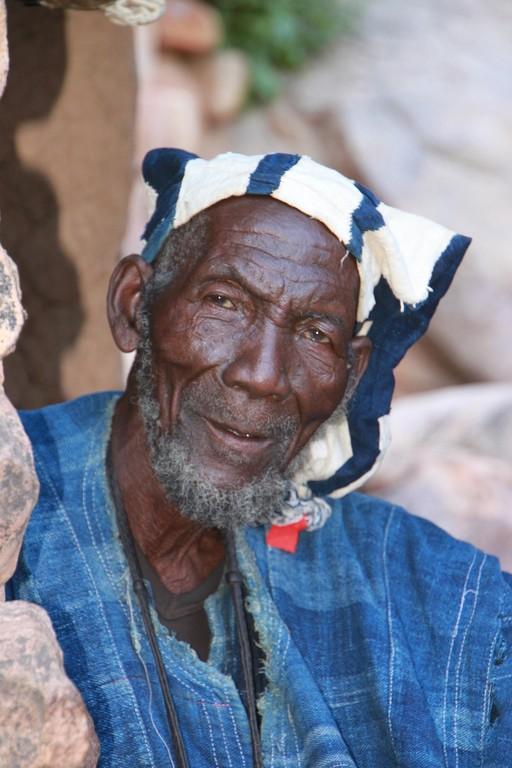 Chef religieux Hogon à KOUNDOU en pays DOGON.