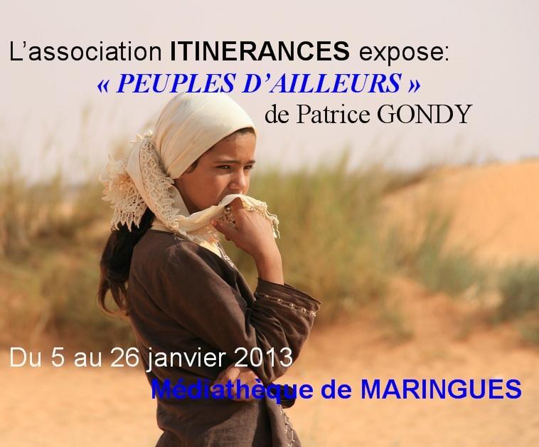 Affiche de l'exposition de MARINGUES. Janvier 2013