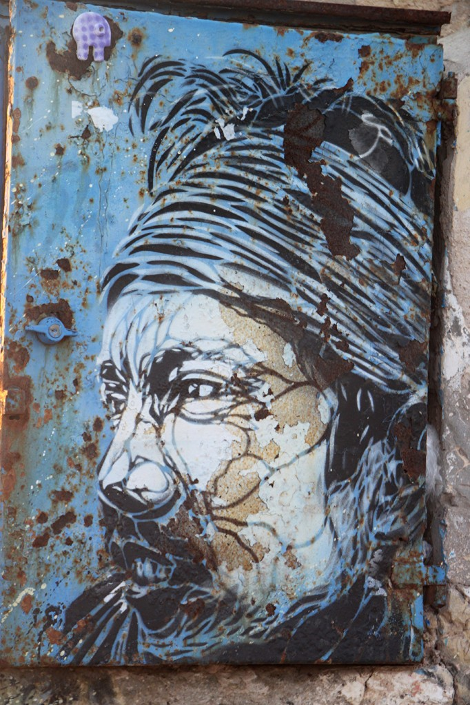 Graffiti sur le port d'ESSOUIRA.