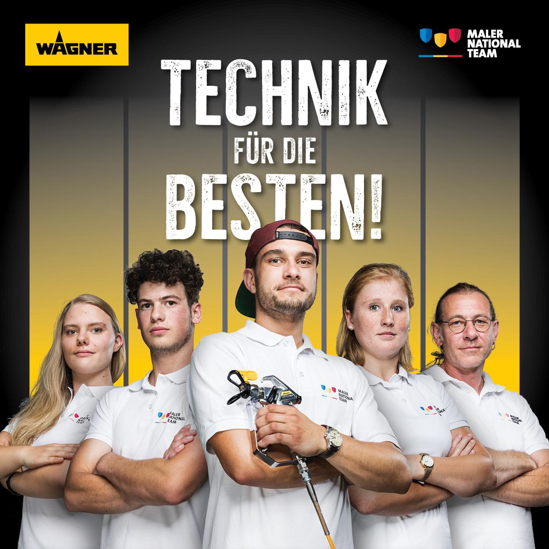 Neues vom deutschen Maler Nationalteam: Technik für die Besten: WAGNER ist offizieller Sponsor
