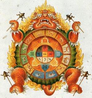 La tortue cosmique (12 signes, 5 éléments, 8 trigrammes)