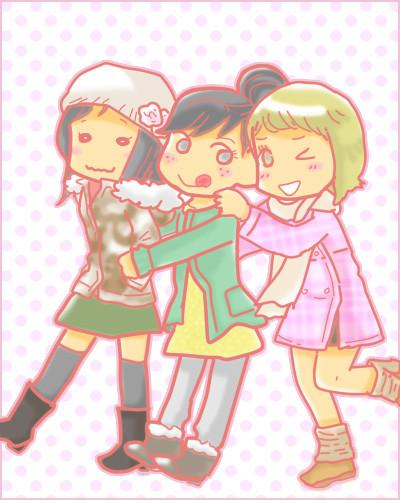 3姉妹(リクエスト絵)