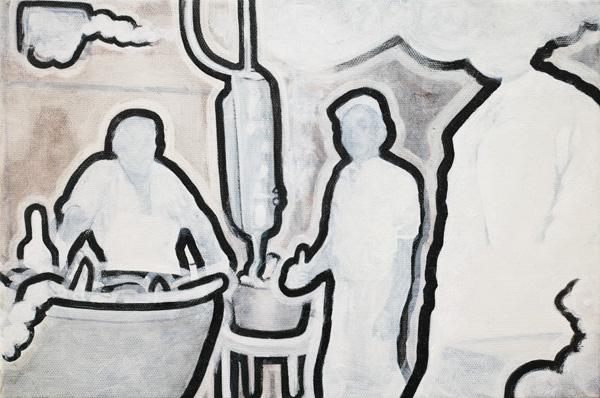 440  unser täglich fleisch  20x30  oil on pigment print on canvas  14