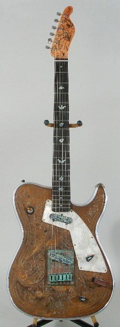 "Girlbrand guitar # 15...maybe called ""Katsumi Girl"". Note: The volume pot is on the pickguard. Unusual."
