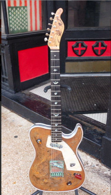 "1999 Rust Top or ""Katsumi Girl"" for sale in 2016. Photo ACME GUITARS, St. Louis, MO."