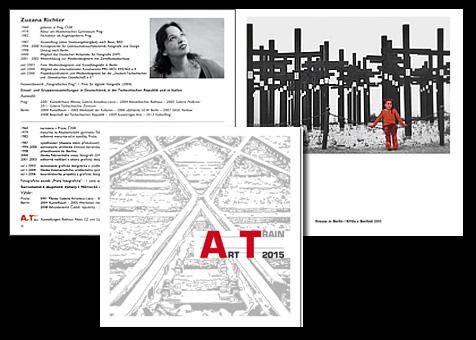 """Katalog (48 Seiten) """"ART TRAIN"""" Ausstellungenprojekt von PRO ARTE VIVENDI e.V., Berlin - deutsch / tschechisch;  Grafik-Design, Bildbearbeitung, Druckvorbereitung"""