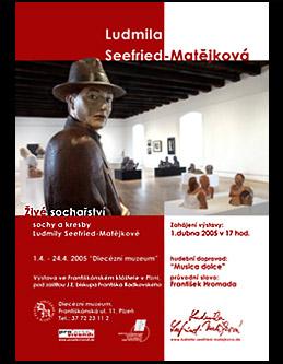 """""""Lebende Bildhauerei - Skulpturen und Zeichnungen"""" Bildhauerin Ludmila Seefried-Matějková;  Grafik-Design, Photographie, Druckvorbereitung"""