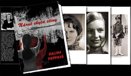 "Buchumschlag ""Náruč chytá stíny"" - Galina Poppová;   Grafik-Design, Photographie, Bildbearbeitung von historischem Fotomaterial und Druckvorbereitung"