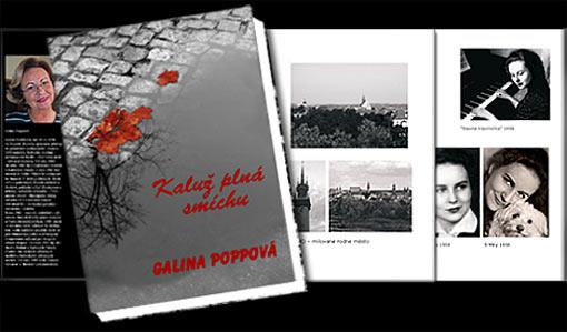 """Buchumschlag """"Kaluž plná smíchu/Eine Pfütze voll Lachen"""" - Galina Poppová;   Grafik-Design, Photographie, Bildbearbeitung von historischem Fotomaterial und Druckvorbereitung"""