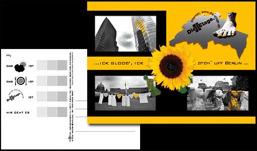 """Werbegeschenk des Hostels """"Die Etage"""" für seine Gäste (Klassenfahrten nach Berlin);  Grafik-Design, Photographie, Druckvorbereitung"""