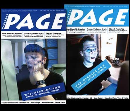 """Deckblattentwürfe für die Zeitschrift """"PAGE"""" Digitale Gestaltung & Medienproduktion;  Grafik-Design, Photographie, Druckvorbereitung"""