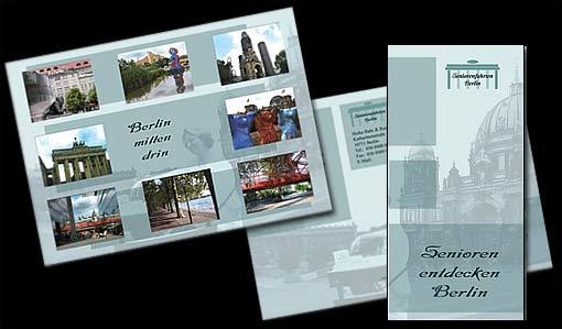 """Flyer für """"Seniorenfahrten Berlin"""";  Grafik-Design, Photographie, Druckvorbereitung"""