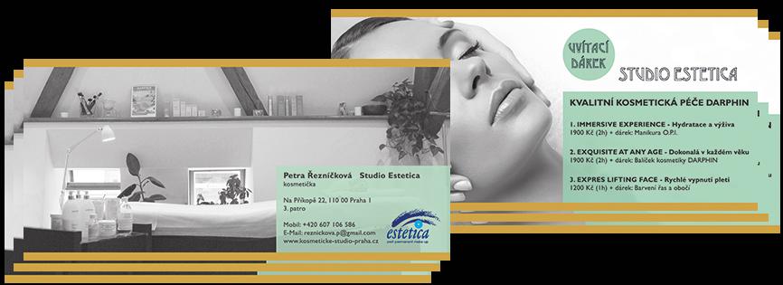 """Werbung """"Studio ESTETICA in Prag"""" - Grafik-Design, Photographie, Bildbearbeitung, Druckvorbereitung"""