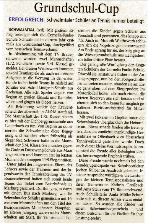 Oberhessische Zeitung Alsfeld vom 30.07.2014