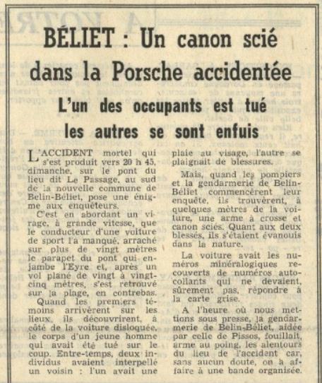 Édition Sud-Ouest du 3 septembre 1974