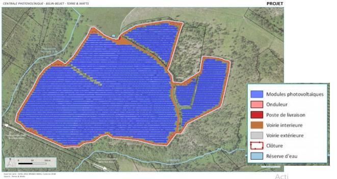 Plan de masse du projet. Source MRAE
