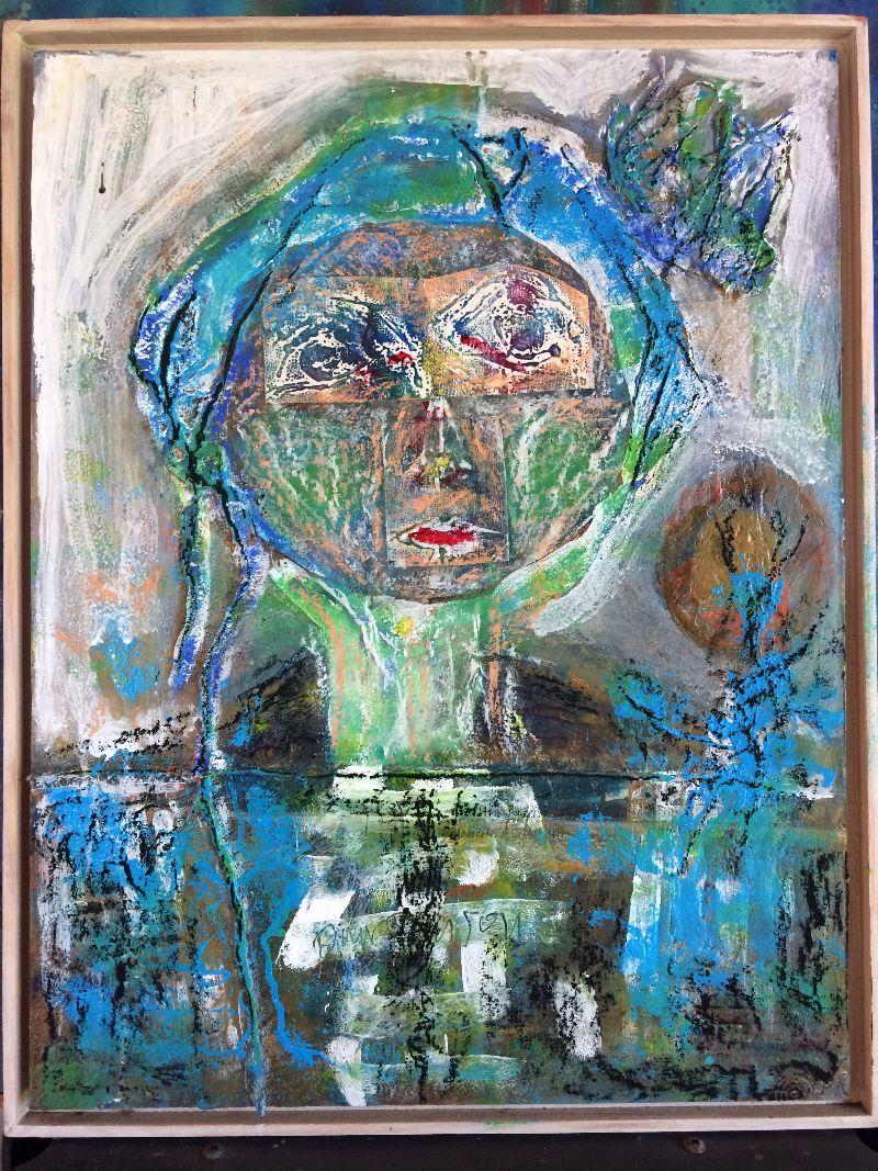 Malade, Marnie avait peint ce dernier autoportrait à destination de la clinique dans laquelle elle était hospitalisée.