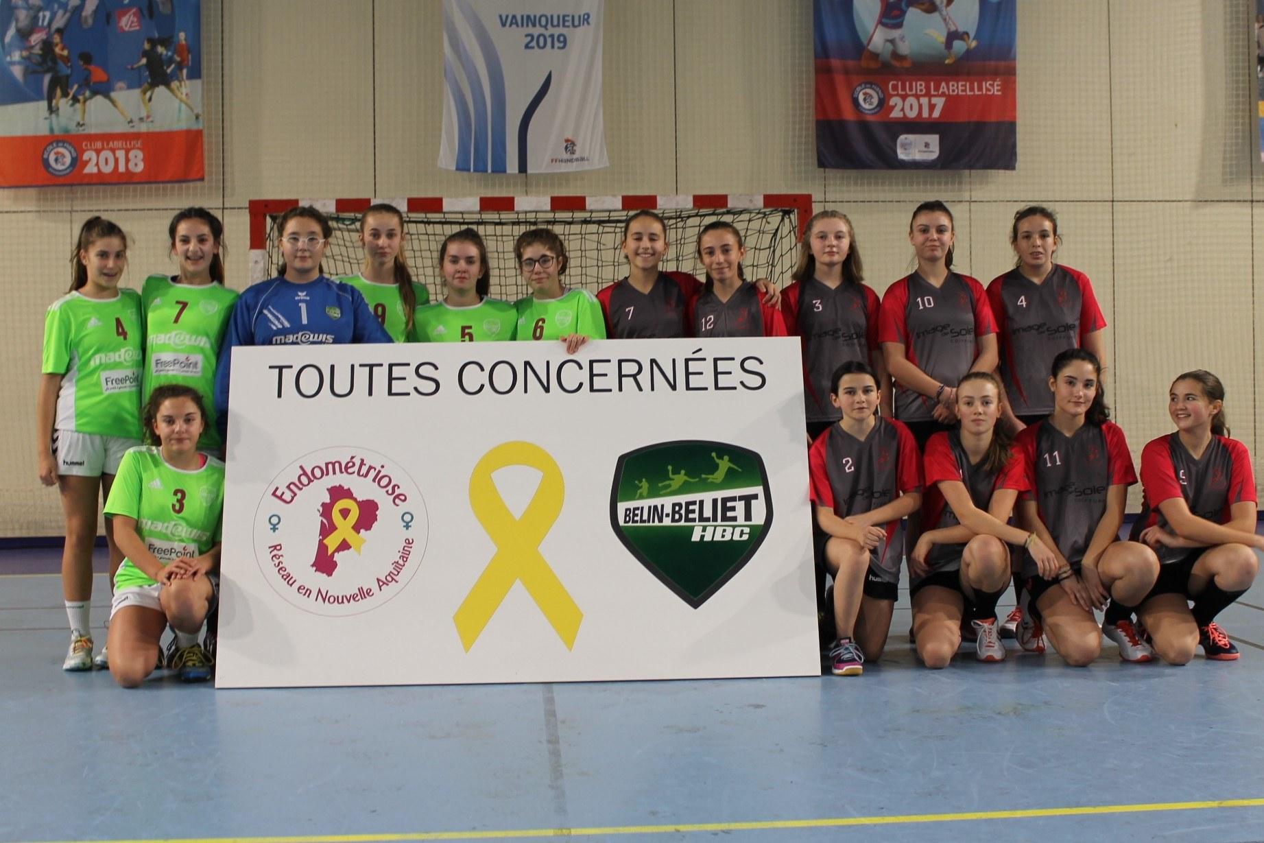 Tout au long de la journée, les équipes féminines étaient à l'honneur et ont fièrement apporté leur soutien en faveur de la lutte contre l'endométriose.