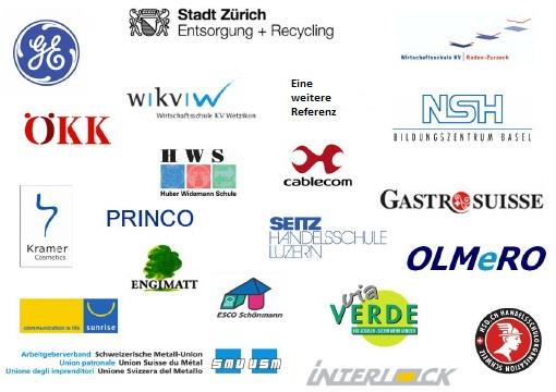 Die Logos unserer Referenzen. HSO, Cablecom. Gastro Suisse, ÖKK und viele mehr konnten schon von unserem Coaching profitieren.