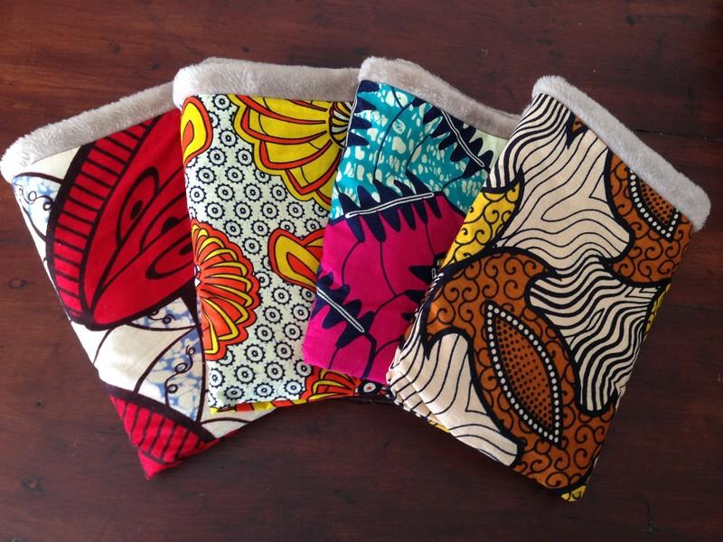 "snood en tissu africain et polaire ""doudou"""